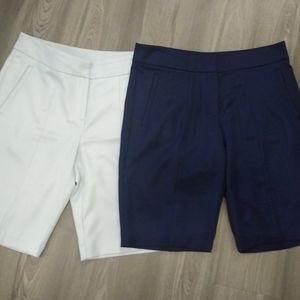 IZOD golf shorts set size 10 navy and light grey